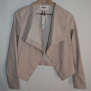 BB Dakota Blazer Faux Leather Size XS Blush Pink